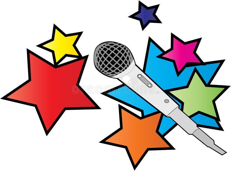 Download Mic stock vector. Image of karaoke, listen, jazz, broadcast - 3247901