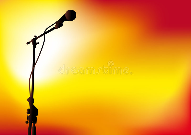 Download Mic stock vector. Illustration of mike, stage, orange - 5461620