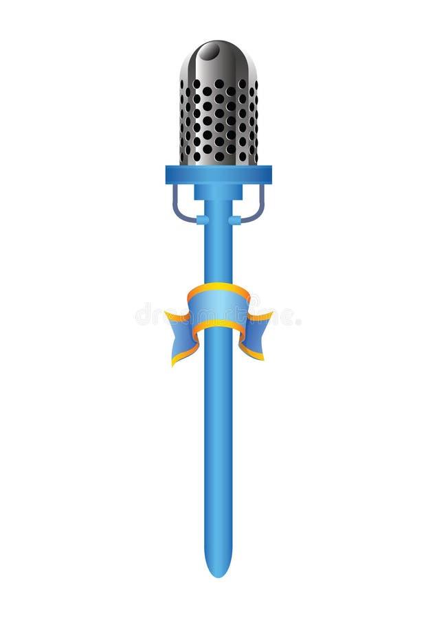 Mic azul ilustração stock