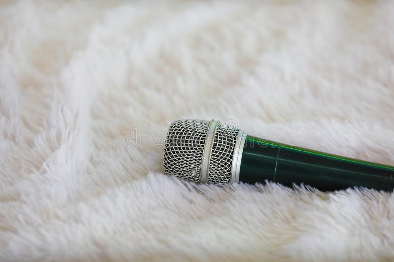 Mic on cloth , sound equipment , royalty free stock images