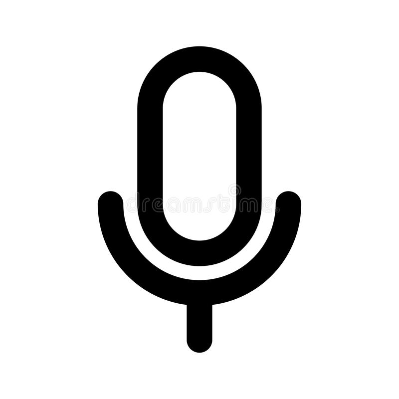 Mic Icon stock abbildung. Illustration von lautsprecher - 100800707