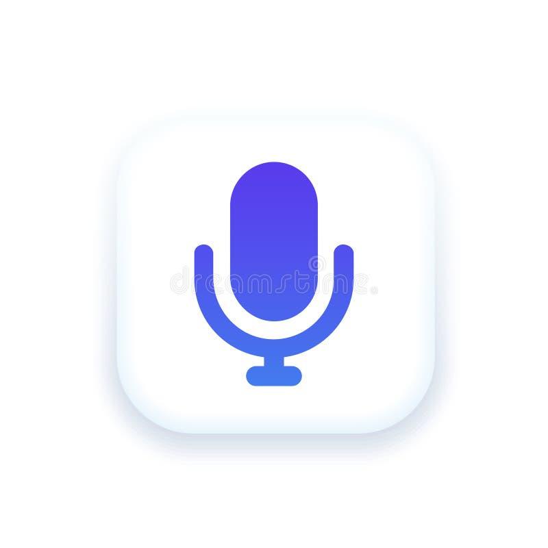 Mic Icon stock illustration. Illustration of microphone - 110661817