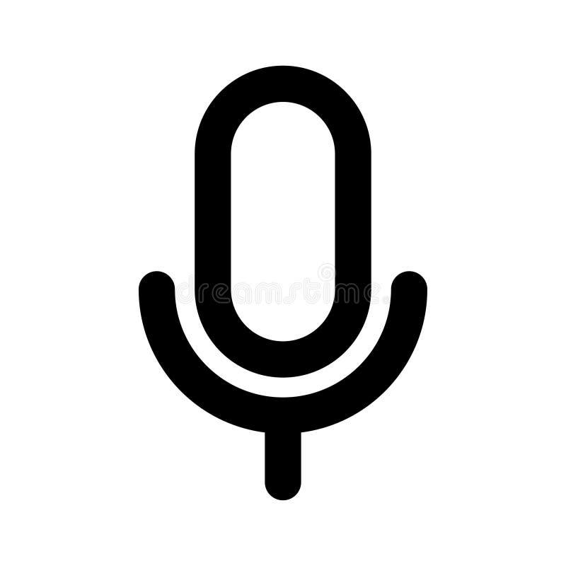 Mic icon stock illustration. Illustration of speaker - 100800707