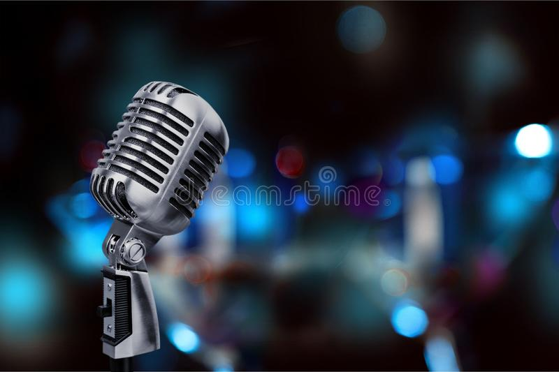 Mic no fundo foto de stock royalty free