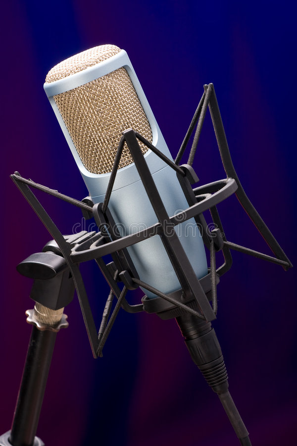 Download Mic on stage 5 stock image. Image of sing, broadcasting - 2836341