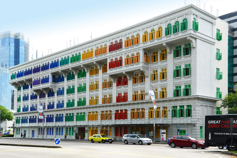 The MICA building in Singapore royalty free stock images