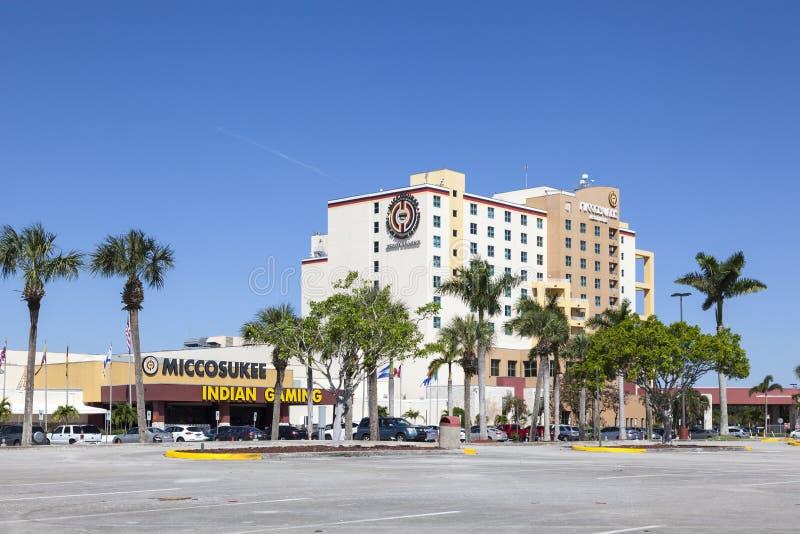 Miccosukee Indisch Casino, Florida stock afbeeldingen