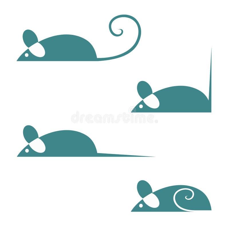 Mice. Simple vector illustration of mice vector illustration