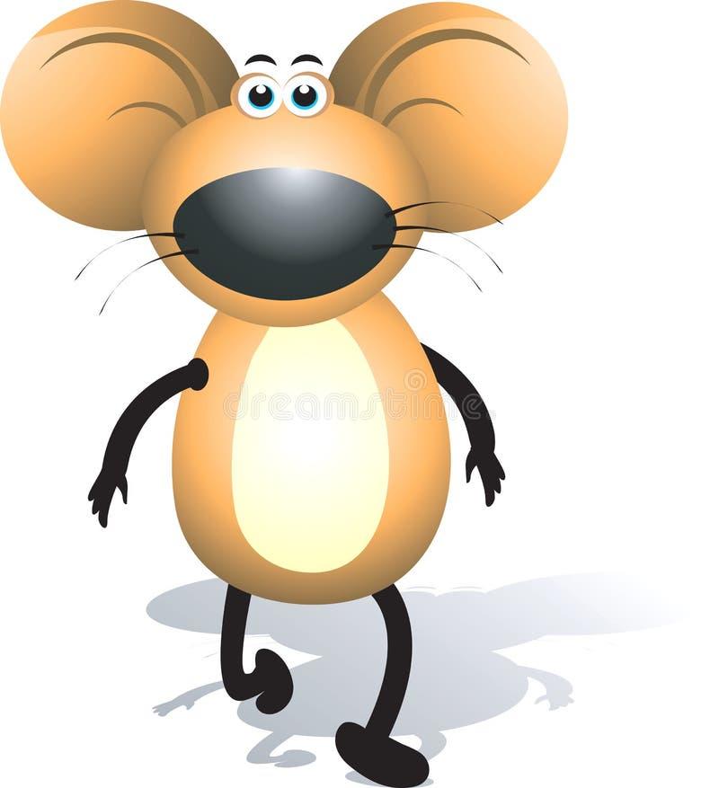 Mice. Illustration of a cute mice walking stock illustration