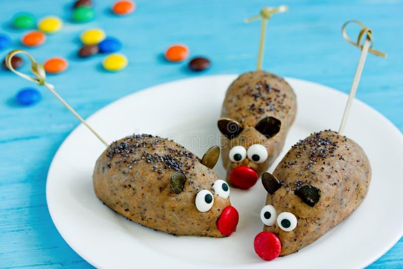 Mice cakes - funny and spooky Halloween treats stock photography