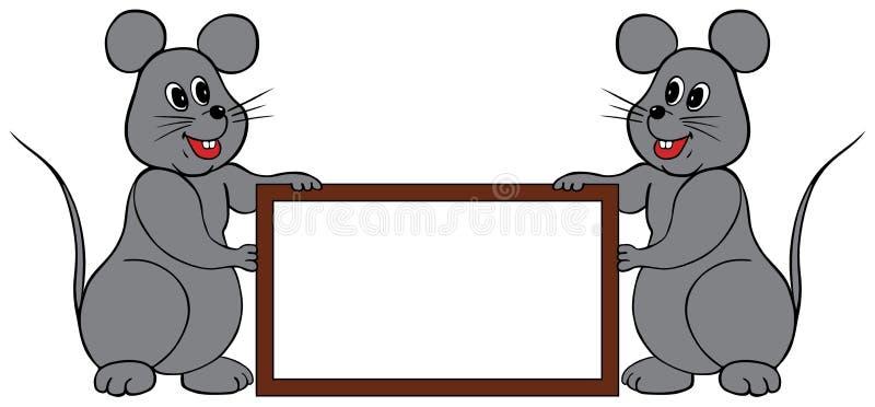 Mice frame vector illustration