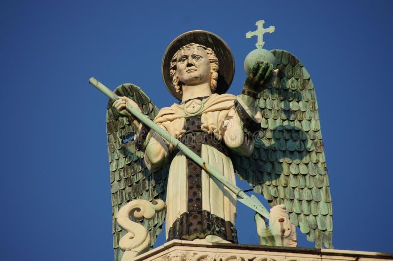 Michael ο αρχάγγελος, Lucca, Ιταλία στοκ φωτογραφίες