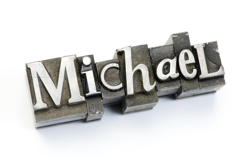 Download Michael stock image. Image of metal, mike, first, type - 7164949