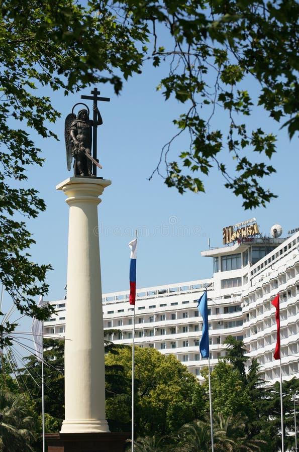Michael archanioła pomnik zdjęcia royalty free