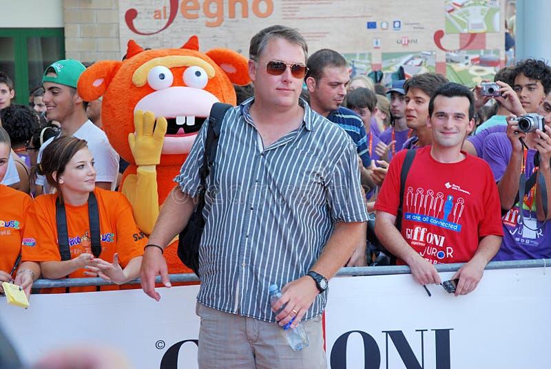 Michael Brandt al Giffoni Ekranowy festiwal 2011 zdjęcie stock