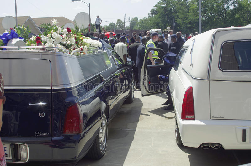 Michael Brown Funeral photos stock