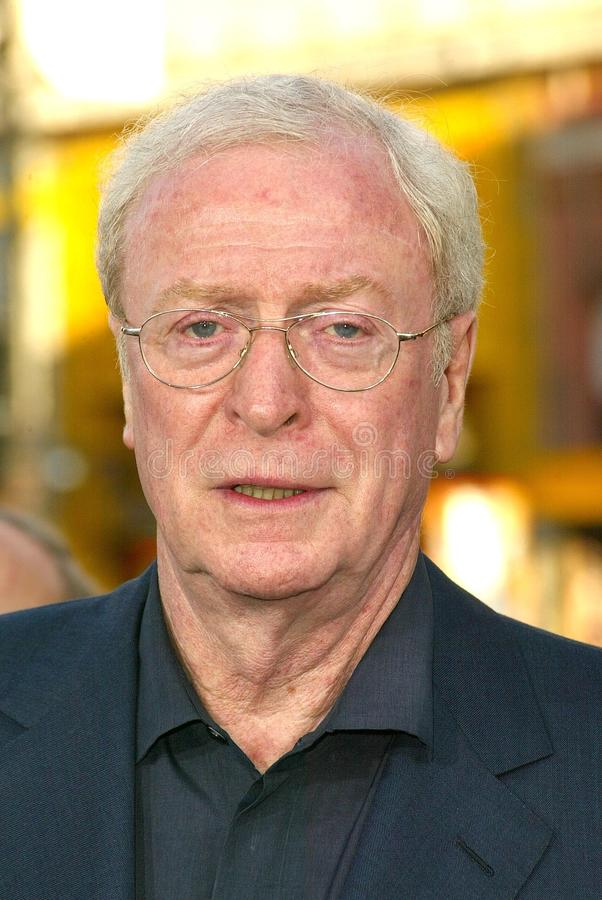 Michael Caine. At the world premiere of Warner Bros. Batman Begins, Chinese Theater, Hollywood, CA 06-06-05 stock photo