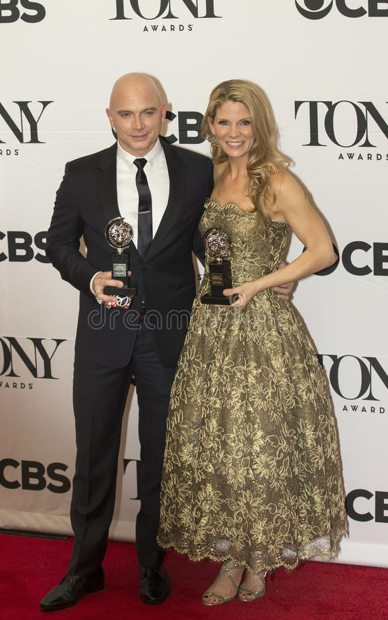 Michael Cerveris och Kelli O'Hara Grab Tony Awards 2015 arkivfoton