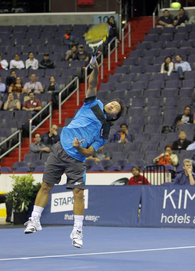 Michael Chang - legendas do tênis na corte 2011 imagem de stock royalty free