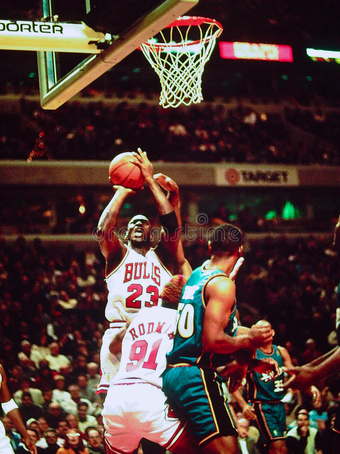 Michael Chicago Bull Jordania fotografia royalty free
