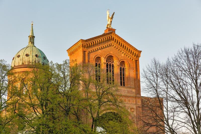 Michael Church-voorgevel in Berlijn, Duitsland stock fotografie