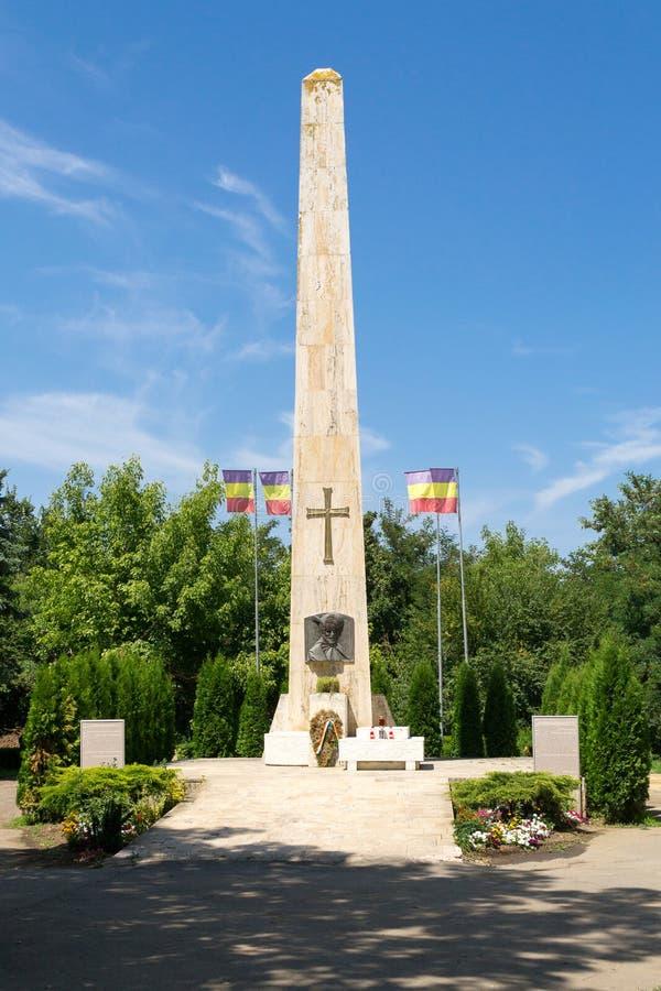 Michael de Moedige obelisk, Turda, Roemenië stock afbeeldingen