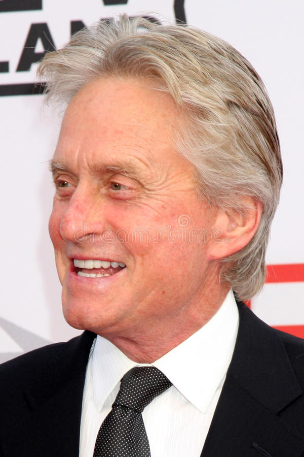 Michael Douglas. Arrives at the AFI Salute to Mike Nichols Sony Pictures Studio Culver City, CA June 10, 2010 stock photos