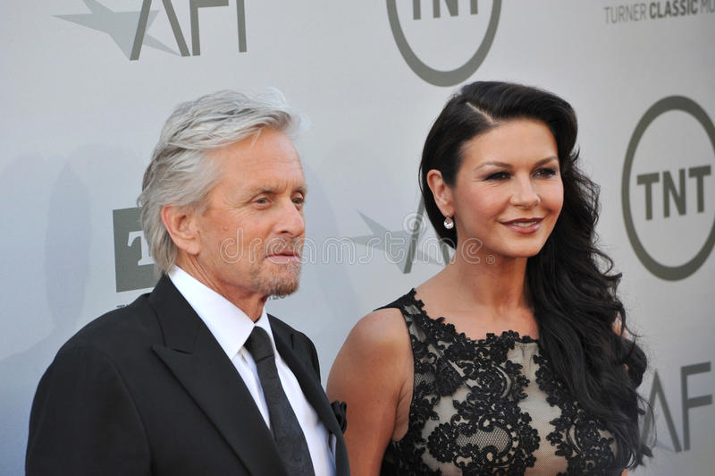 Michael Douglas & Catherine Zeta-Jones obrazy royalty free