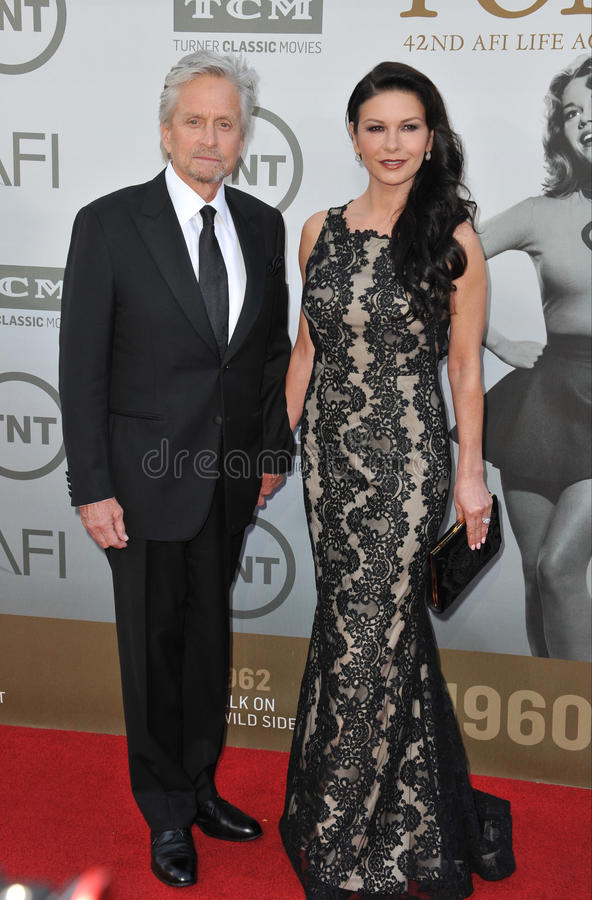 Michael Douglas & Catherine Zeta-Jones obraz royalty free