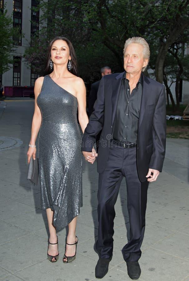 Michael Douglas en Catherine Zeta-Jones royalty-vrije stock foto