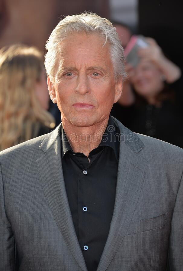 Michael Douglas. LOS ANGELES, CA - JUNE 29, 2015: Actor Michael Douglas at the world premiere of his movie \'Ant-Man\' at the Dolby Theatre, Hollywood royalty free stock photos