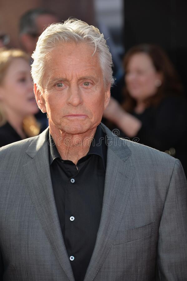 Michael Douglas. LOS ANGELES, CA - JUNE 29, 2015: Actor Michael Douglas at the world premiere of his movie \'Ant-Man\' at the Dolby Theatre, Hollywood stock photo