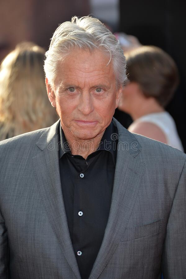 Michael Douglas. LOS ANGELES, CA - JUNE 29, 2015: Actor Michael Douglas at the world premiere of his movie \'Ant-Man\' at the Dolby Theatre, Hollywood stock photos