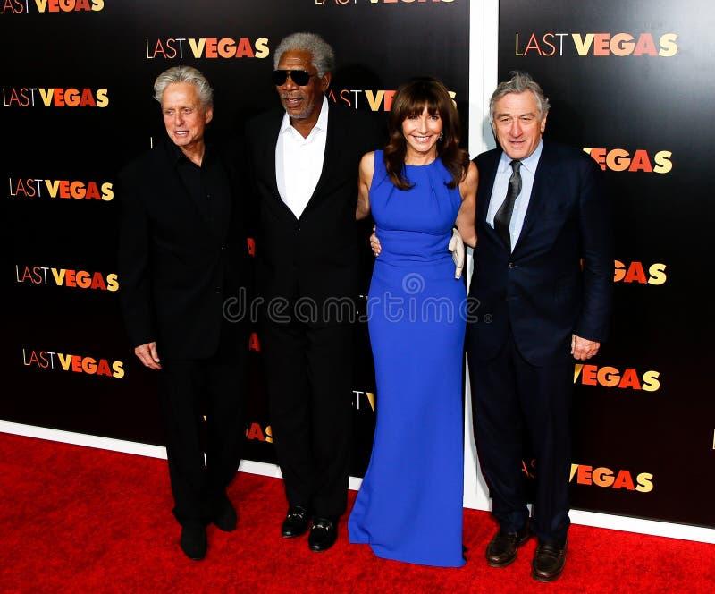 Michael Douglas, Morgan Freeman, Mary Steenburgen, Robert DeNiro photos stock