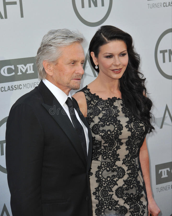 Michael Douglas u. Catherine Zeta-Jones lizenzfreies stockbild