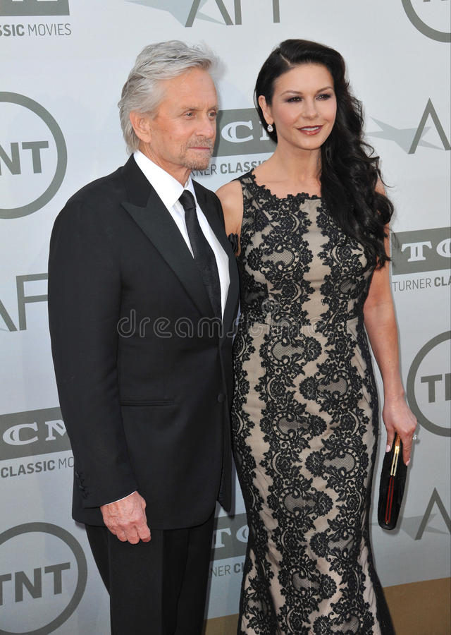 Michael Douglas u. Catherine Zeta-Jones stockfotografie