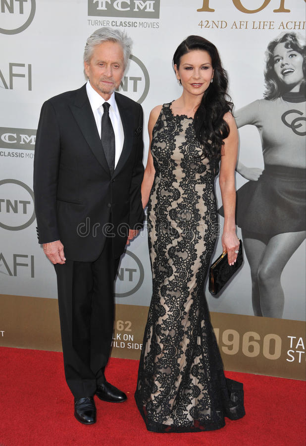 Michael Douglas u. Catherine Zeta-Jones stockbild