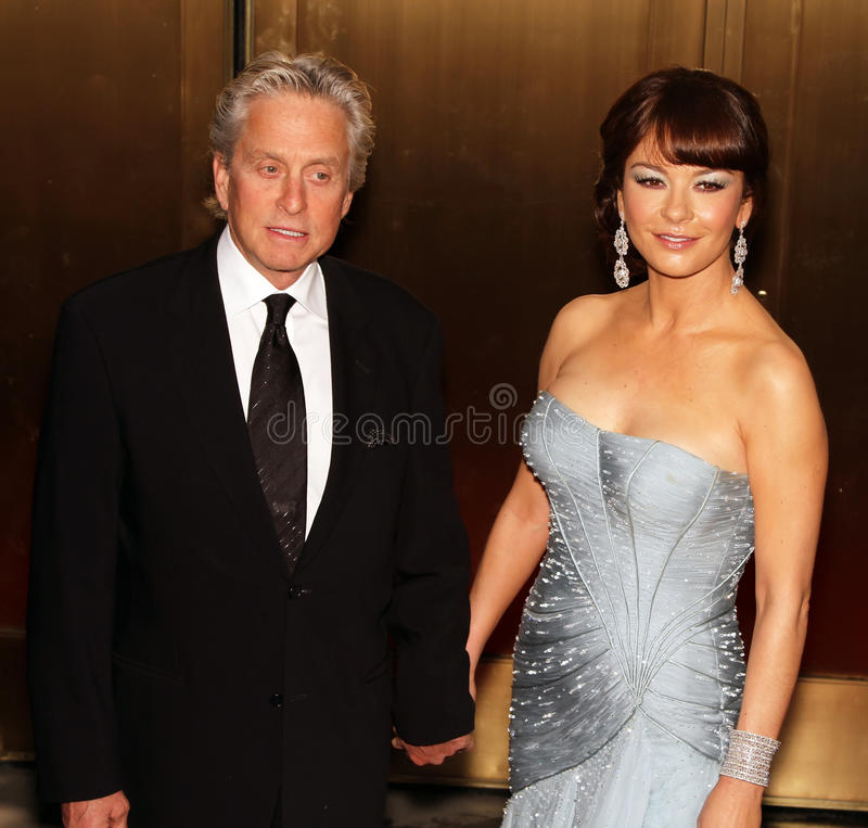 Michael Douglas y Catherine Zeta-Jones fotos de archivo