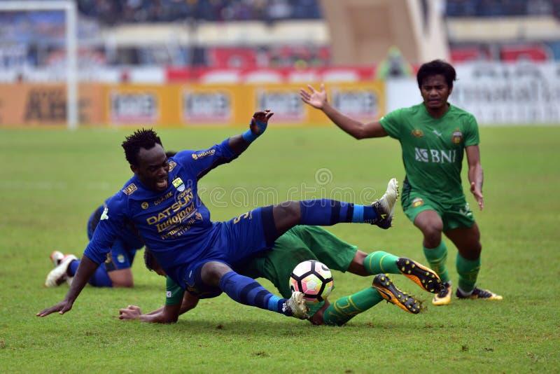Michael Essien Persib contre Bhayangkara photographie stock libre de droits