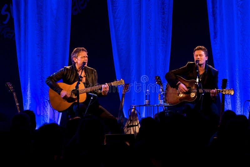 Michael Falch & Poul Krebs. Live at Skråen in Aalborg, Denmark stock images
