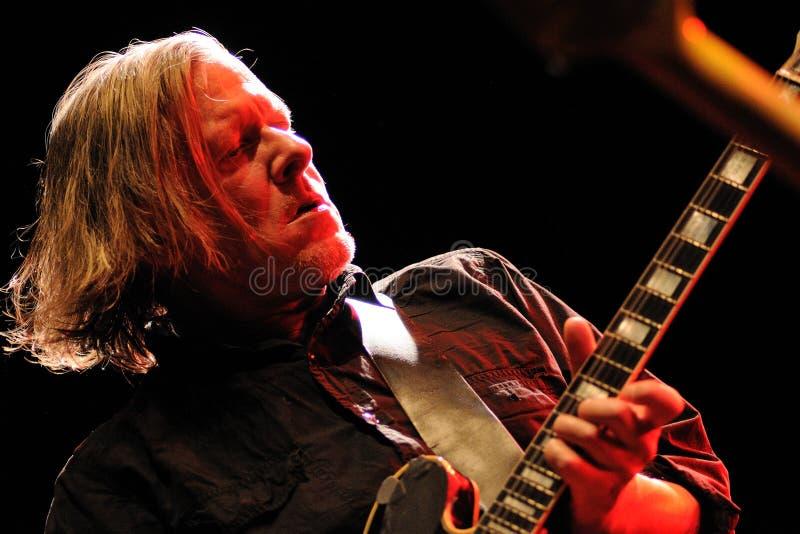Michael Gira, singer and guitarist of Swans band, performs at Sant Jordi Club royalty free stock images
