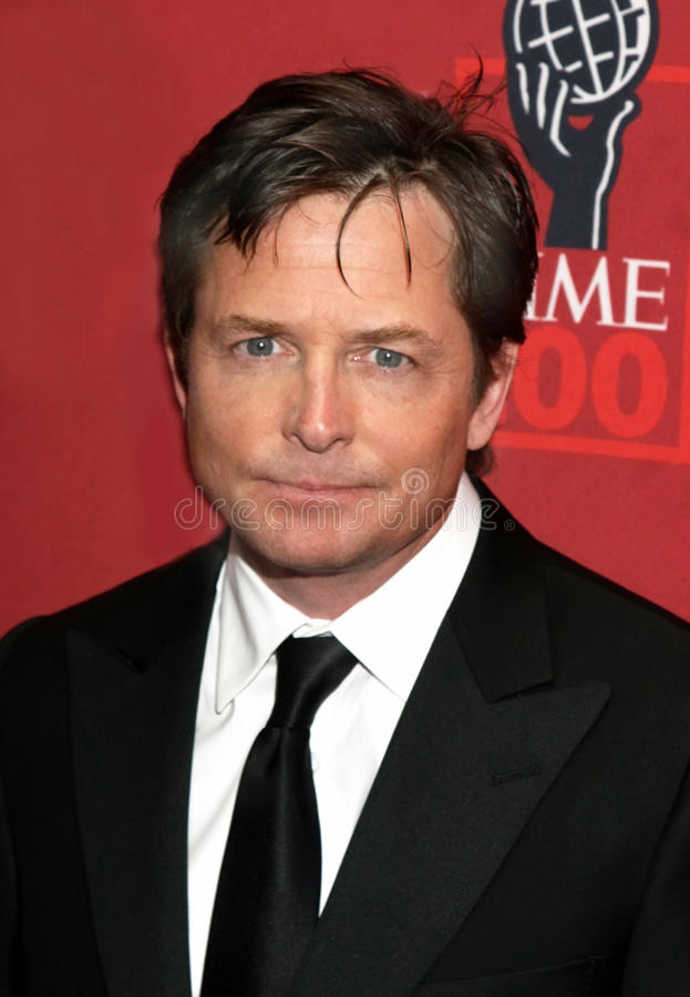 Michael J. Fox. Actor Michael J. Fox arrives on the red carpet for Time Magazine's 100 Most Influential People gala in New York City; May 8, 2007 stock photo