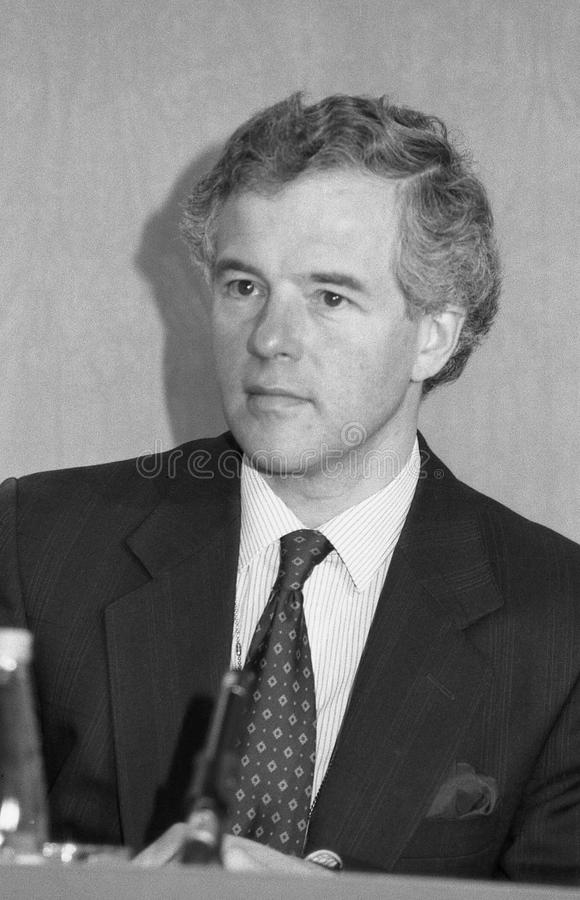 Michael Jack. Minister at the Department of Social Security and Conservative party Member of Parliament for Fyld, attends a press conference in London, England stock photo