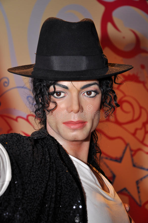 Michael Jackson. Wax statue of Michael Jackson, was a Hollywood celebrity, actor and singer, image taken at the Madame Tussauds museum at Hollywood, Los Angeles