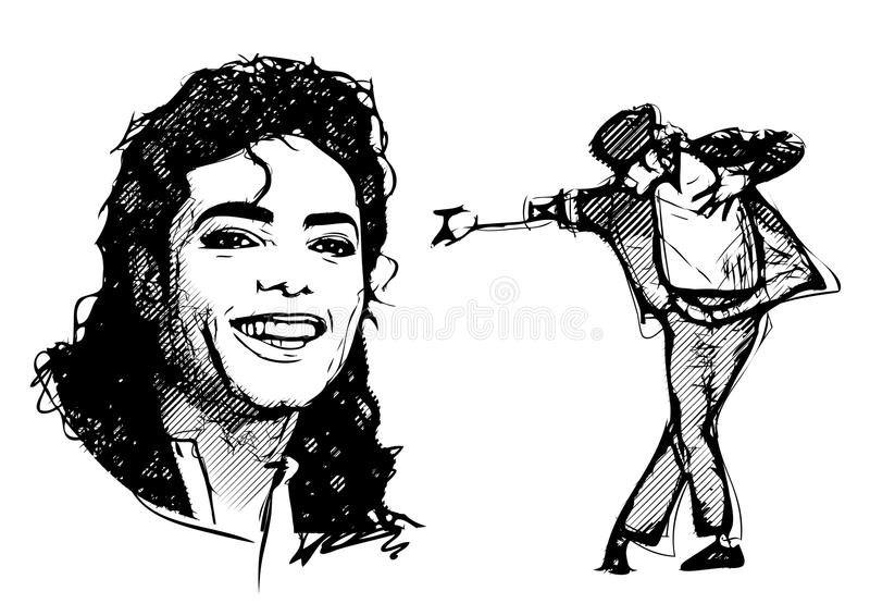 Michael Jackson stock illustratie