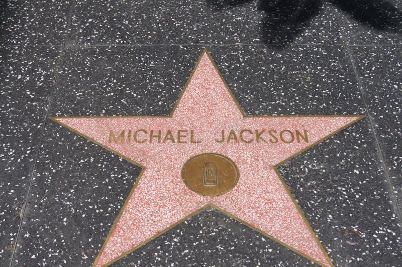 Michael Jackson, caminhada da fama imagem de stock royalty free
