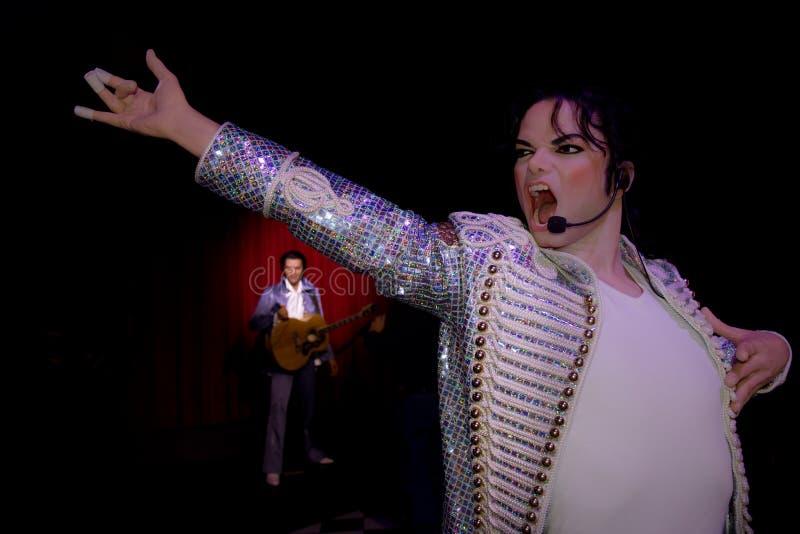 Michael Jackson Cantante, re sulla musica pop waxwork fotografia stock
