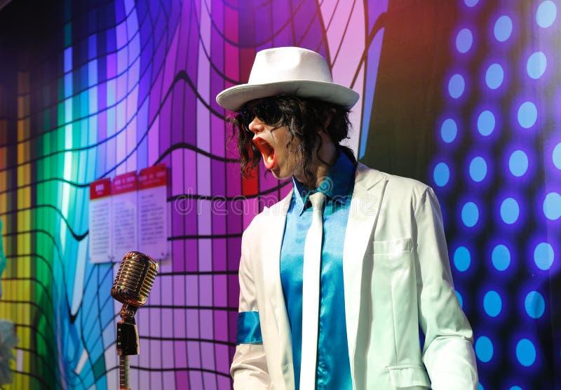 Michael Jackson, estátua da cera, figura de cera, modelo de cera fotografia de stock
