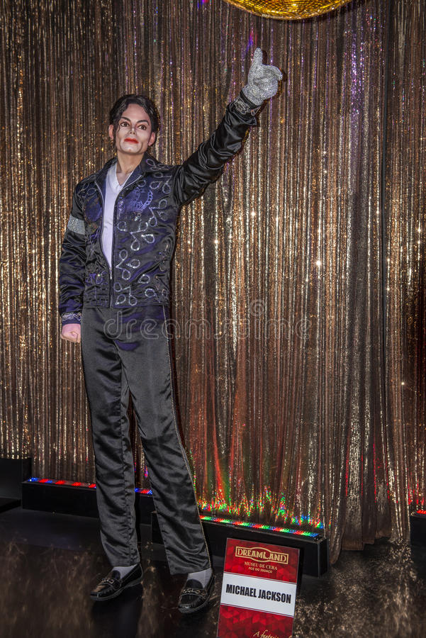 Michael Jackson ' figura de cera de s en el museo de la cera fotos de archivo