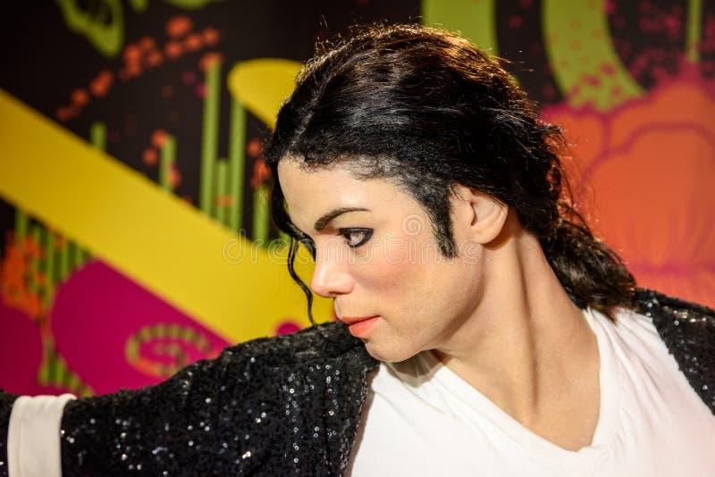 Michael Jackson figurka Przy Madame Tussauds Nawoskujący Muzeum zdjęcia royalty free